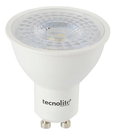 Foco Led Dicroico Tau Gu10 5w 100-240v 6500k Blanc Tecnolite