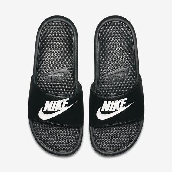 Chinelo Sandália Nike Benassi Just Do It Preto Original