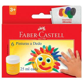 Guache Pintura A Dedo - 25ml - 6 Cores - Faber-castell