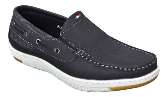 Zapato Nautico Hombre Massimo Chiesa Alf Elastizado Cómodo