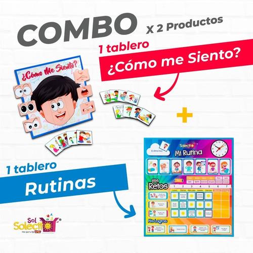 Combo Tablero De Rutinas + Tablero ¿cómo Me Siento? Ms