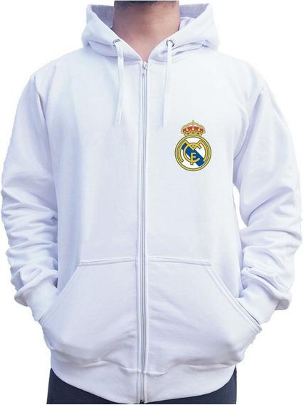Blusa Moletom Canguru Real Madrid De Ziper