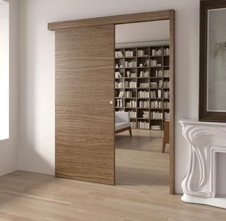 Puerta Corrediza Con Guía Y Cerradura Ideal Baño, Dormitorio