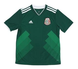 Camisa adidas Oficial México 1 Infantil 2018