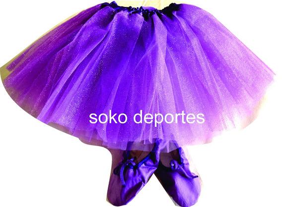 Zapatillas Danza Fucsia Dorada Plateada Rojas Violetas