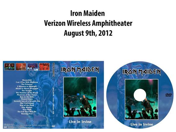 Dvd Iron Maiden - Verizon Wireless Amphitheater 2012