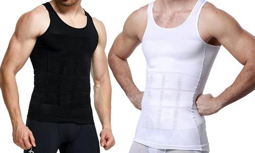 Imagen 1 de 10 de Faja De Hombre Camiseta Reductora Modeladora De Postura Gym