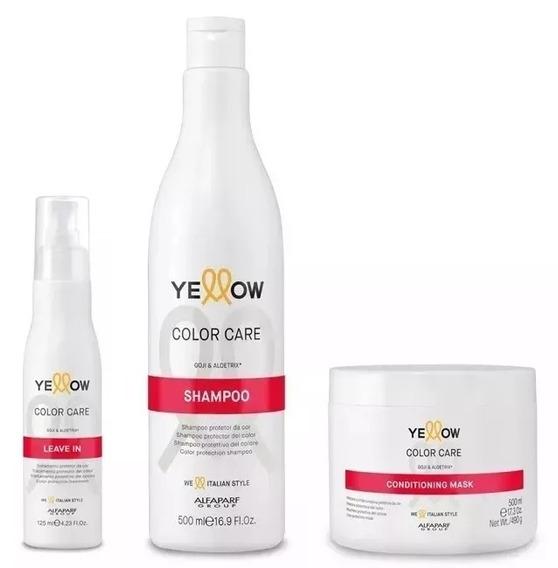 Kit Yellow Alfaparf Color Care Gojiberry Aloetrix 3 Produtos