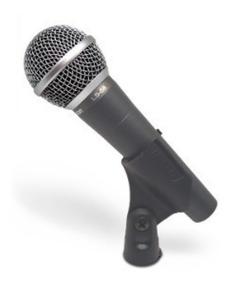 Microfone Dinâmico Leson Ls-58 Com Fio