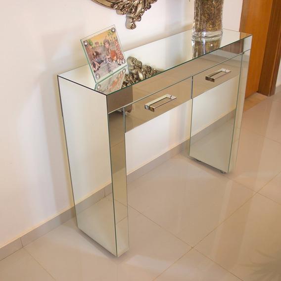 Aparador / Penteadeira Espelho Lapidado 2 Gavetas 120x40x85