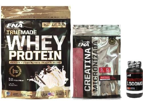 Promo:whey Protein  X453 Gr+carnitina 1500mg+creatina Ena
