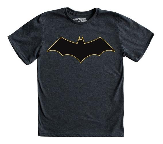 Playera Batman Rebirth Logo Niño Mascara De Latex Dc Cómics