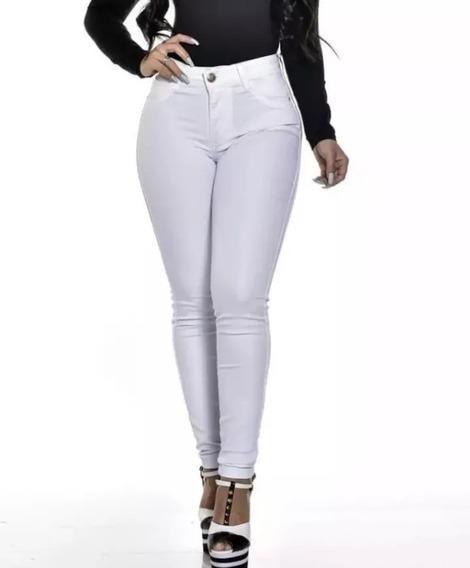 Calça Branca Tamanhos 36/44 Jeans Barata Larga Tendencia