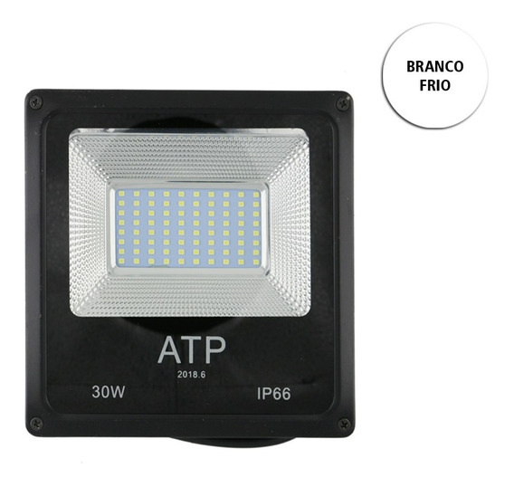 Refletor Atp Smd Holofote Ip66 30w - Branco Frio