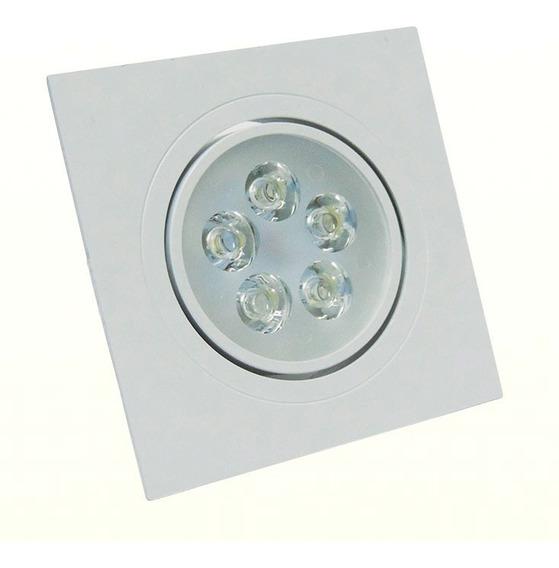 Luminária Spot Led Embutir Quadr 12w Luz Amarela Aquicompras