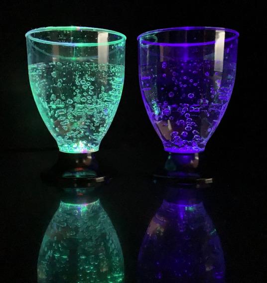 30 Copas Led Luminosas Multicolor Vaso Led Cotillon Luminoso