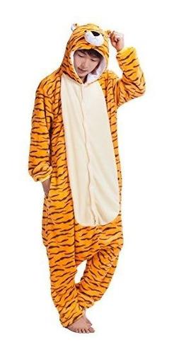 Pijama De Una Pieza De Tigre Adulto Kigurumi Con Capucha Mon