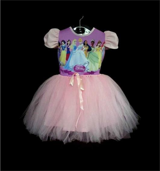 Vestido Infantil Princesas Fantasia Princesas Bailarina
