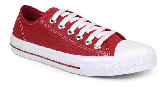 Tênis Casual Tag Shoes Feminino Lona Furadinho Leve Conforto