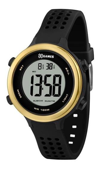 Relógio Esportivo Feminino X-games Xfppd062 Preto / Dourado
