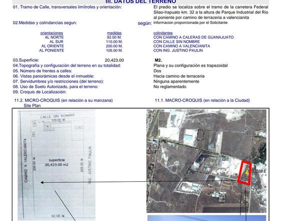 Terreno Industrial Aun Lado Parque Industrial Castro Del Rio