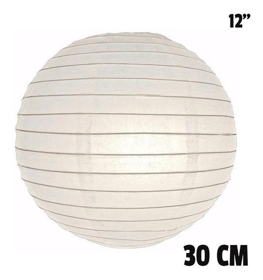 10 Pantallas Chinas 30cm 12´´ Blancas Linterna Lámpara Papel