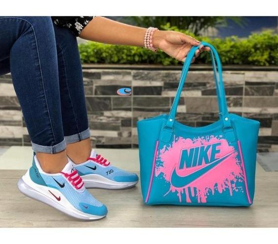 Zapatos Mujer,tenis Nike,bolso Deportivo,combo