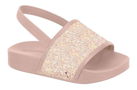 Chinelo Slide Infantil Glitter Molekinha Colonelli 2125.100