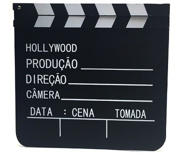 Claquete Cinema Filmagem Diretor Madeira Decoração 30x28
