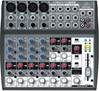 Consola Behringer Qx1202 Usb Mixer 12 Ch 4 Mono 4 St Efectos
