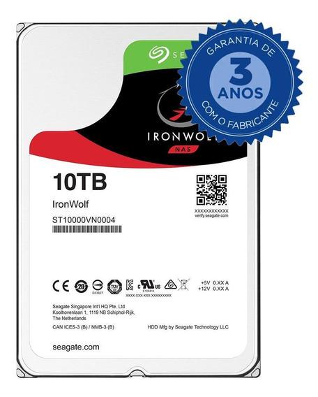 Hd Seagate Ironwolf Nas, 10tb, 3.5´, Sata - St10000vn0004