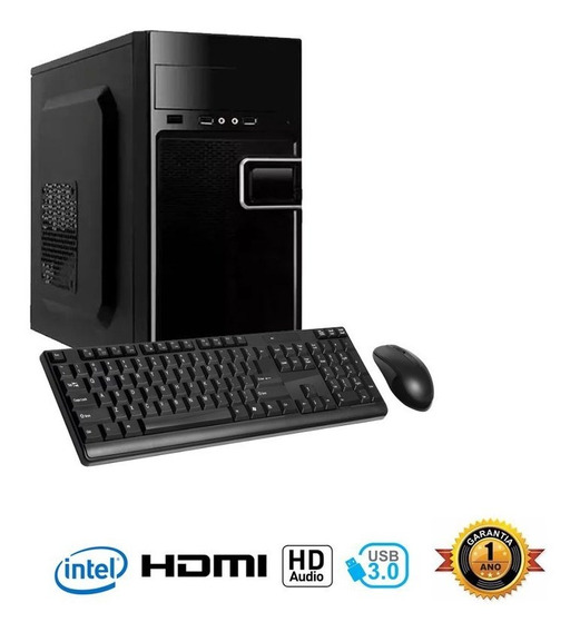 Computador Infoparts Core I3-8100, 4gb 500gb Teclado E Mouse