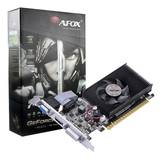 Placa De Vídeo Geforce Afox G210 1gb Ddr3 Low Profile Hdmi