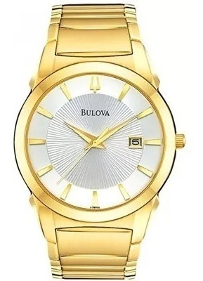 Relógio Bulova Masculino Dourado C Calendário Wb21605h