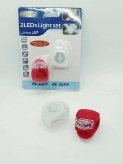 Luz Led Para Bici Flexible De Silicona X2 Pack.