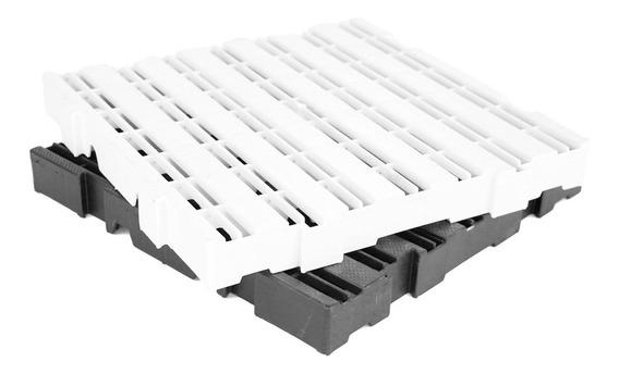 Kit 05 Pç Deck Plástico 4,5x50x50 Estrado Pallet Piso