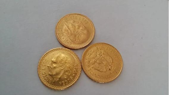 Oro Puro 22 Kilates Centenario De Mexico 2.5 Pesos Hidalgo G
