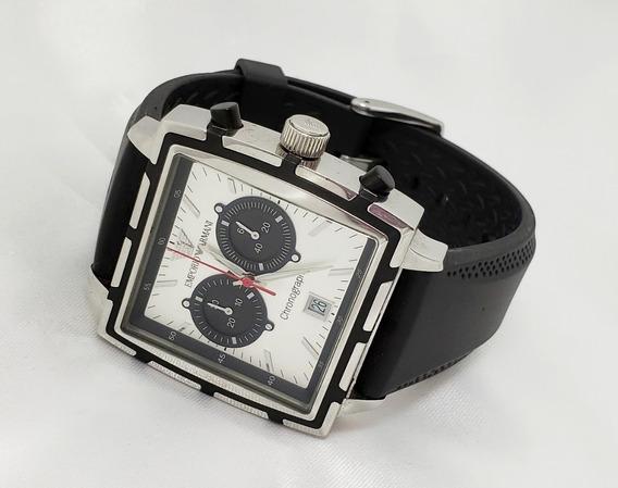 Relógio Masculino Emporio Armani Cronógrafo Preto Original