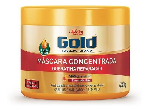 Niely Gold Máscara Concentrada Queratina Reparação