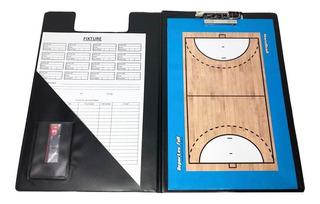Pizarra Handball Magnetica! Carpeta + Pizarra Doble + Fibron