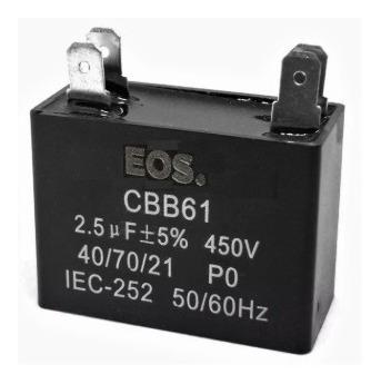 Capacitor 2,5uf 450vac Cbb61 4 Terminais (kit Com 3 Peças)