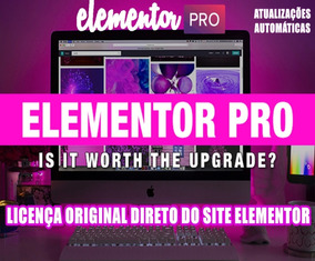 Licença Elementor Pro 2019 P/1 Site Licença Elementor Pro