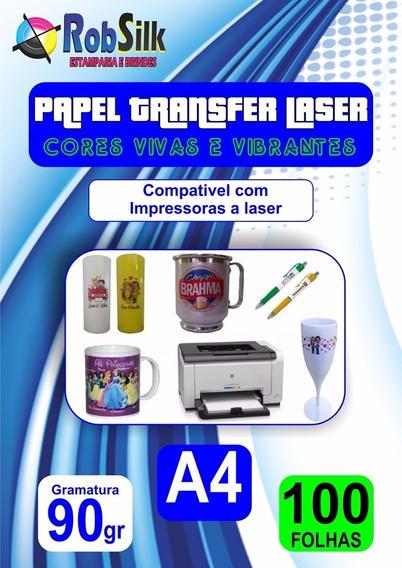 100 Papel Transfer Laser Caneca Acrílica Copo Long Drink