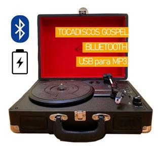 Bandeja Tocadiscos 220v + Bater Inter 3hs + Bluetooth Gospel