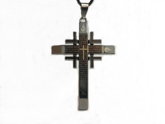 Colar Masculino Feminino Pingente Cruz Crucifixo 40% Descont