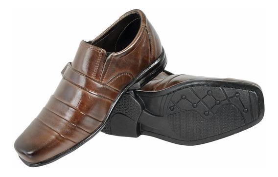 Sapato Social Infantil Masculino Couro Legítimo Atacado