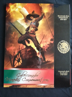 Álbum Con Colección De Monedas Del Centenario Y Bicentenerio