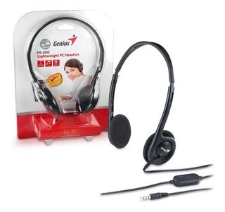 Audífono Genius H-200c Con Micrófono / Lhua Store