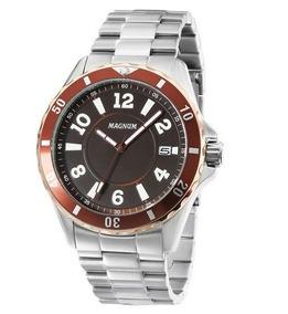 Relógio Magnum Ma34521r Calendario Pulseira Metal