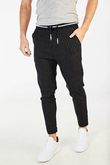 Pantalon Tascani Parix Negro